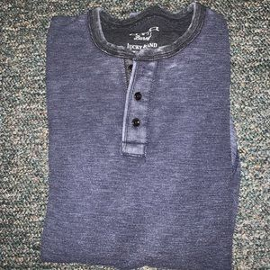 Lucky brand venice burnout thermal long sleeve